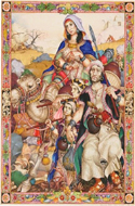 The Book of Ruth illustriert von Arthur Szyk