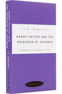 Unkorrigierte Werkausgabe von Harry Potter and the Prisoner of Azkaban