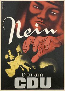 CDU Wahlplakat Von 1949